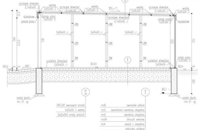 Projekt Domu Energooszczędnego Gb7 Garaż Blaszany Dwustanowiskowy Z