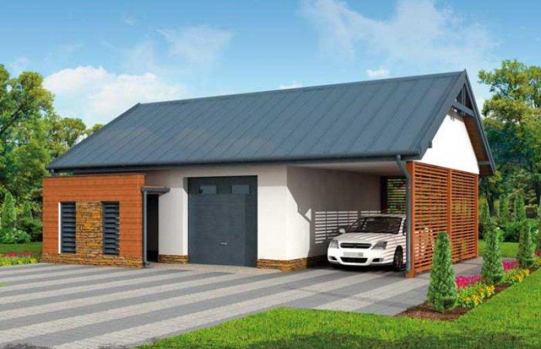 Projekt Domu Energooszczędnego G277 Garaż Jednostanowiskowy Z