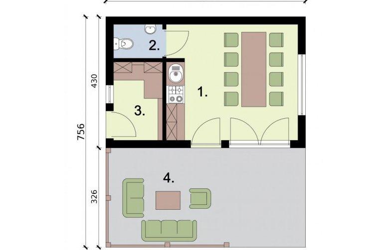 Projekt budynku gospodarczego KL7 Kuchnia letnia  Bud   -> Czy Kuchnia Letnia To Budynek Gospodarczy