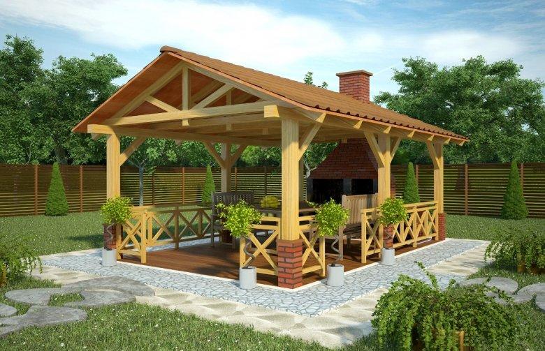 Projekt Domu Nowoczesnego G139 Altana Ogrodowa Pg 656