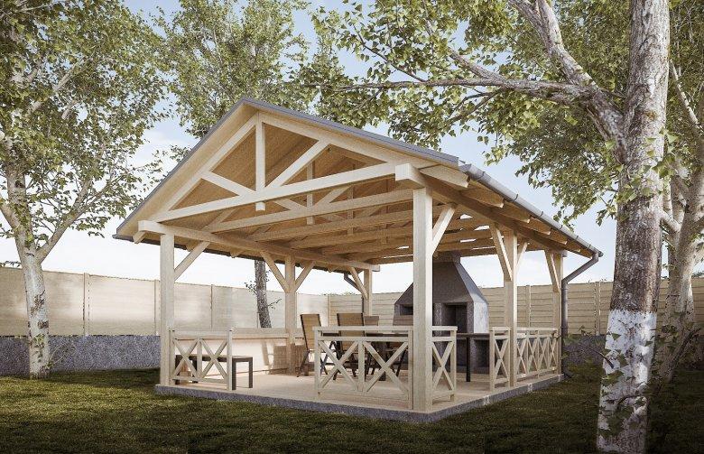 Projekt Domu Nowoczesnego G256 Altana Ogrodowa Pg 967