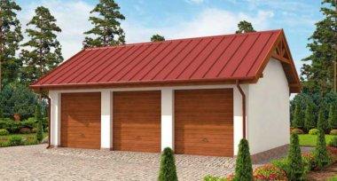 Projekt Domu G305 Garaż Trzystanowiskowy